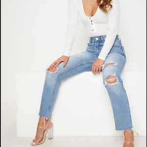 Prettylittlething mom jeans
